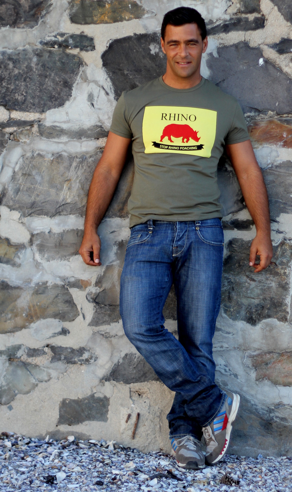 Mens 'Stop Rhino Poaching' T-shirt